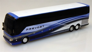 Prevost H Passenger Coach Blue Factory Demo